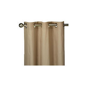 Photo of Tesco Plain Canvas Unlined Eyelet Curtain 229X183CM, Mink Curtain