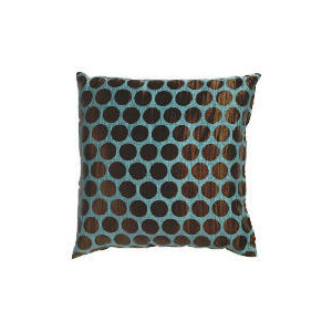 Photo of Tesco Jacquard Spot Cushion Teal Cushions and Throw