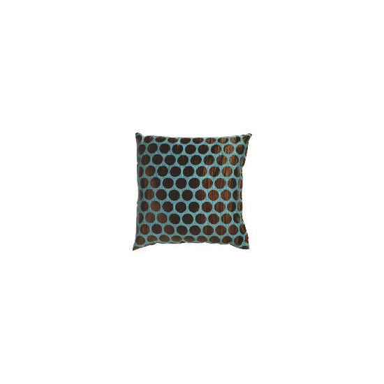 Tesco Jacquard Spot Cushion Teal