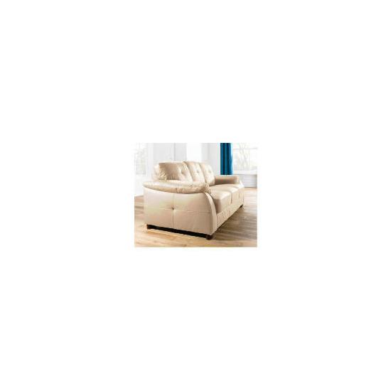 Modena large Leather Sofa, Cream