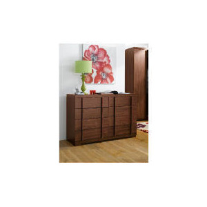 Photo of Brandon 8 Drawer Extra Wide Chest, Walnut Effect Furniture