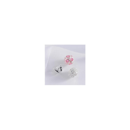 STERLING SILVER SET OF 3 BEAD CHARMS