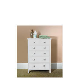 Oakland 6 Drawer Chest, white Reviews