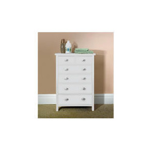 Photo of Oakland 6 Drawer Chest, White Furniture