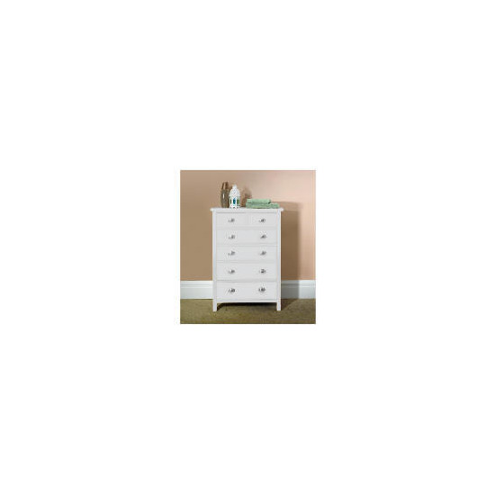 Oakland 6 Drawer Chest, white
