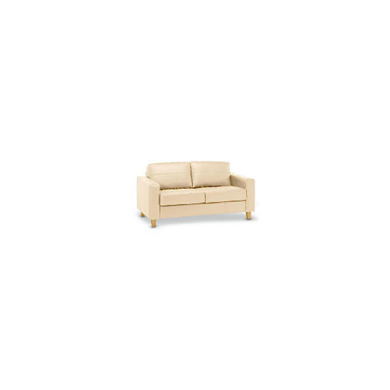 Italy Leather Sofa, Ivory