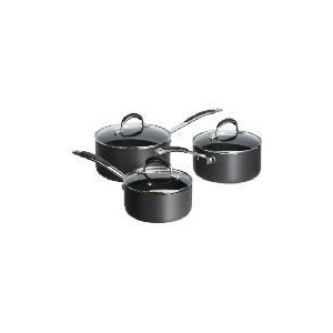 Photo of Tesco Go Cook Hard Anodised 3 Piece Set Cookware