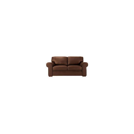 York Leather Sofa, Chocolate