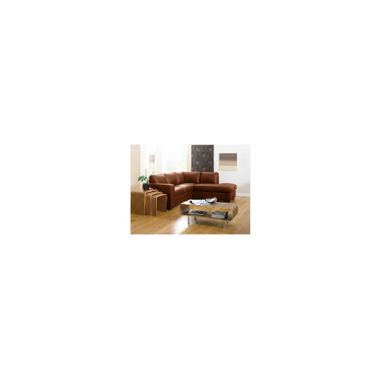 Aspen Right Hand Corner Leather Sofa, Cognac
