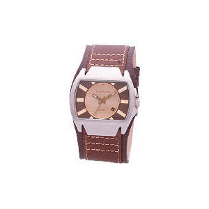 Photo of Kahuna Men Brown Leather CUFF WATCH Watches Man