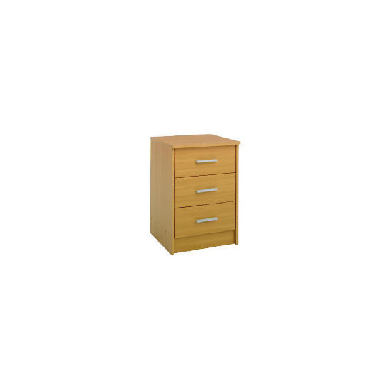 Compton 3 Drawer Bedside Chest Beech