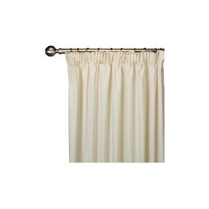 Photo of Tesco Plain Canvas Unlined Pencil Pleat Curtain 229X137CM, Natural Curtain