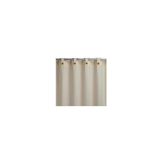 Tesco Plain Canvas Unlined Belt Top Curtain 229x137cm, Natural
