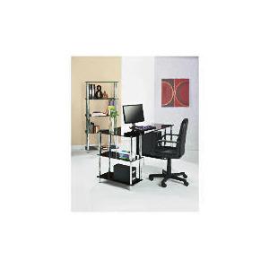 Photo of Mercury Desk, Chrome and Black Glass Furniture