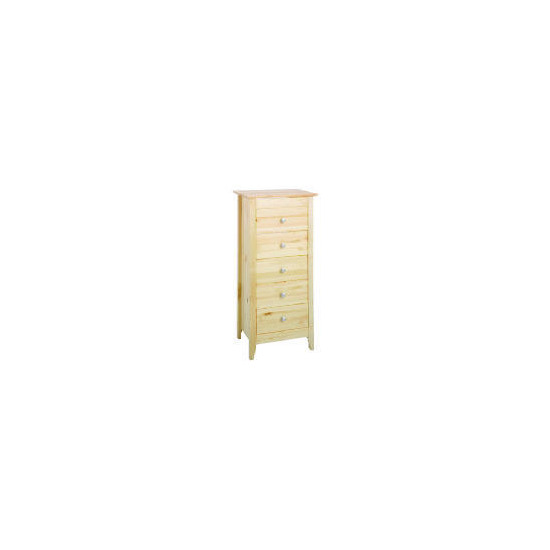 Fairhaven 5 Drawer Tall Chest, Natural