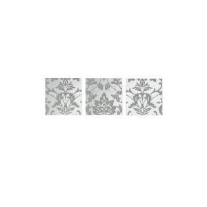Photo of Damask Printed Mirror Set Of 3 30X90CM Home Miscellaneou