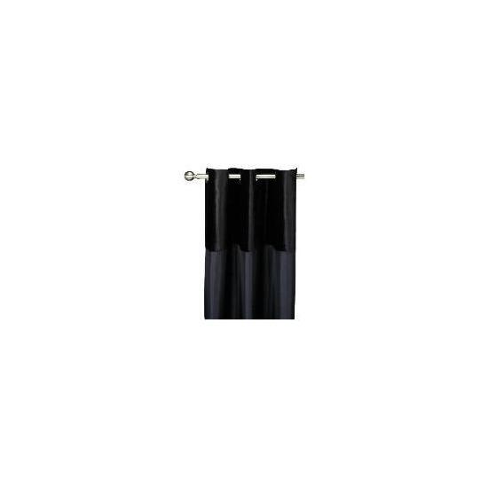 Tesco Velvet Taffeta Curtain Lined Eyelet, Black 137x137