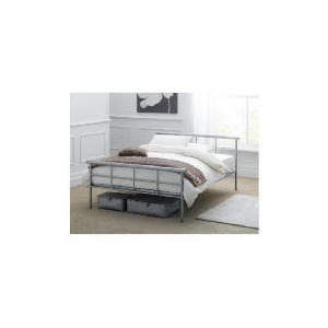 Photo of Durban Double Bed Frame, Silver Finish Bedding