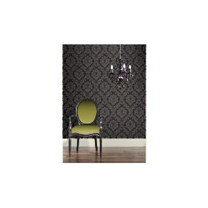 Photo of Arthouse Da Vinci Damask Black Wallpaper Home Miscellaneou