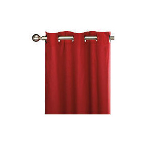 Photo of Tesco Plain Canvas Unlined Eyelet Curtain 229X183CM, Red Curtain