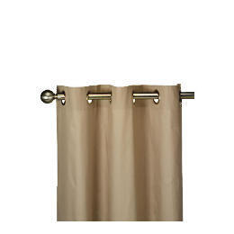 Tesco Plain Canvas Unlined Eyelet Curtain 168x137cm, Mink Reviews