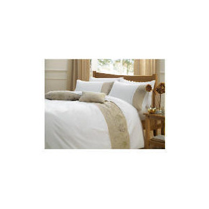Photo of Tesco Dell Embroidered Duvet Set King, White Bedding