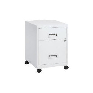 Photo of White COMBI2 Drawer Filing Cabinet & Casters Furniture