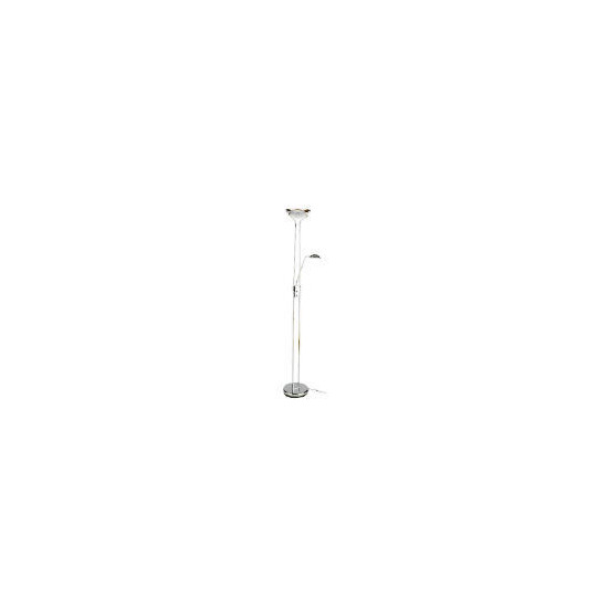 Mother And Child Floor Lamp, Chrome