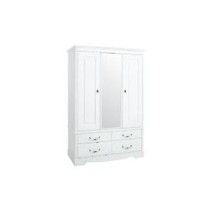 Photo of Dorset 3 Door 4 Drawer Robe White Furniture