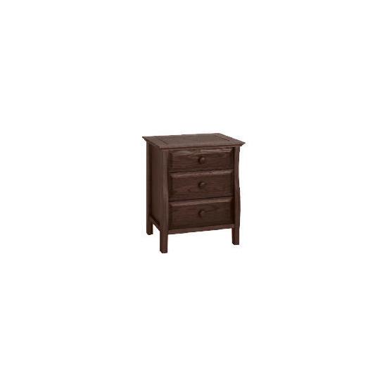 Windsor 3 Drawer Bedside Chest, Dark Oak