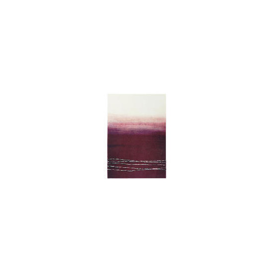 Abstract Plum Hand Painted Canvas 70x100cm