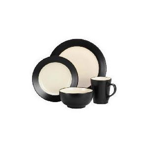 Photo of Tesco Two Tone Dinnerset 16 Piece, Black & Cream Dinnerware