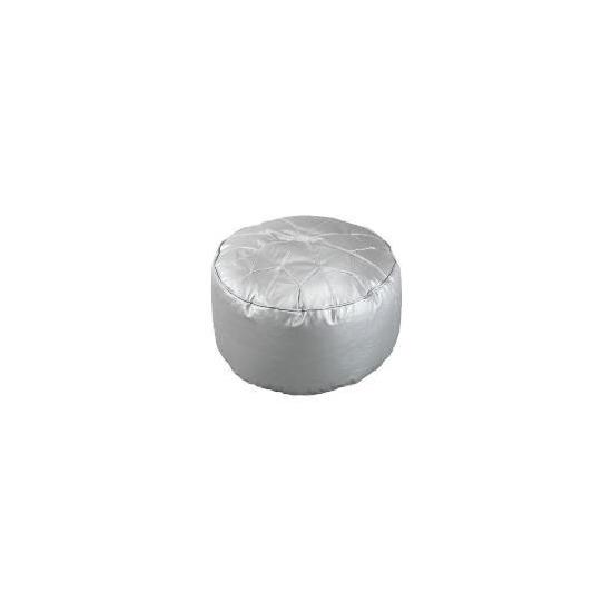 Star Morrocan Footstool, Silver 60x30cm