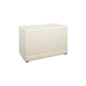 Photo of Blenheim Ottoman, Oyster Damask Furniture
