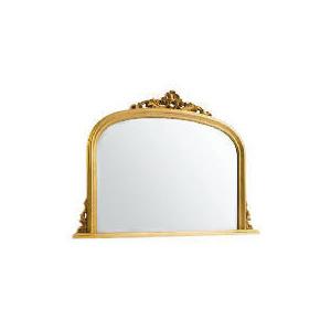 Photo of Marseille Overmantle Mirror Gold 119X90CM Home Miscellaneou