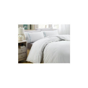 Photo of Tesco Claudia Ribbon Duvet Set Single, White Bed Linen