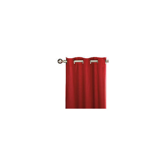 Tesco Plain Canvas Unlined Eyelet Curtain 229x229cm, Red