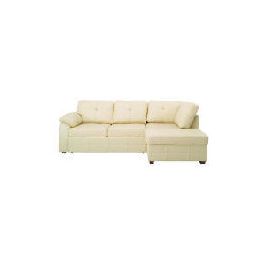 Photo of Modena Right Hand Facing Leather Chaise Sofabed, Cream Furniture