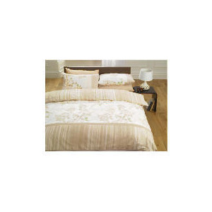 Photo of Tesco Silhouette Leaves Duvet Set Double, Natural Bed Linen