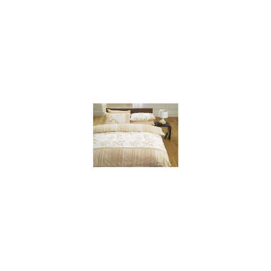 Tesco Silhouette Leaves Duvet Set Double, Natural