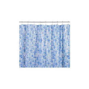 Photo of Croydex Patterned Shower Curtain Mosaic Bathroom Fitting