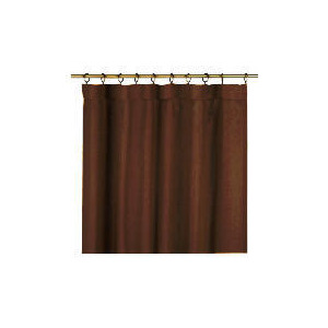 Photo of Tesco Plain Canvas Unlined Pencil Pleat Curtain 117X183CM, Chocolate Curtain