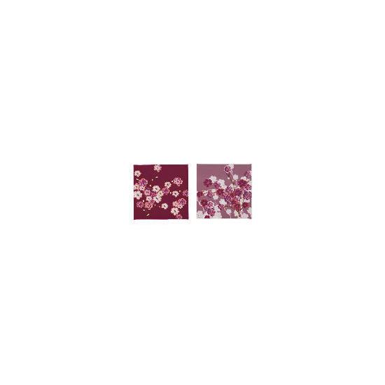 Berry Blossom Canvas Set Of 2 30x30cm