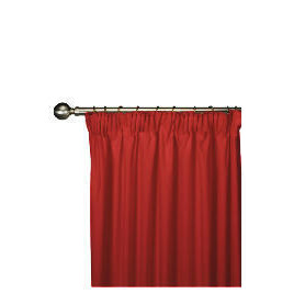 Tesco Plain Canvas Unlined Pencil Pleat Curtain 117x183cm, Red Reviews