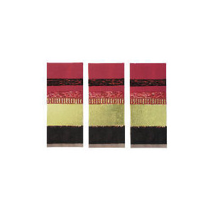 Photo of Warm Red Abstract Hand Painted Canvas, Set Of 3 70X90CM Home Miscellaneou