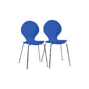 Photo of Pair Of Bistro Chairs, Blueberry Furniture