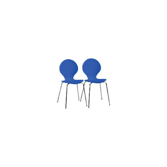 Pair of Bistro Chairs, Blueberry