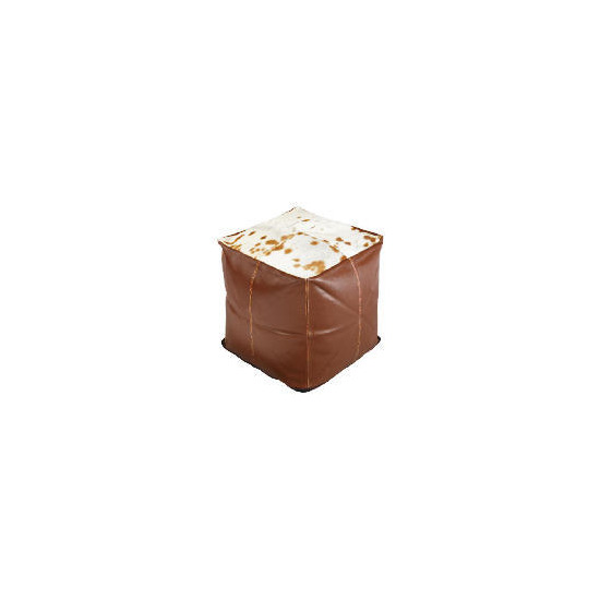 Real Leather & Cow Hide Bean Cube
