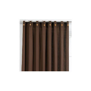 Photo of Tesco Plain Canvas Unlined Belt Top Curtain 229X229CM, Chocolate Curtain