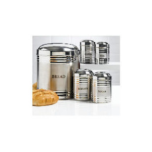 Photo of Tesco Bread Bin and Cannister Set Kitchen Accessory